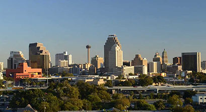 Austin skyline. Apartment locators